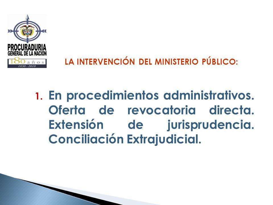 LA INTERVENCIÓN DEL MINISTERIO PÚBLICO: