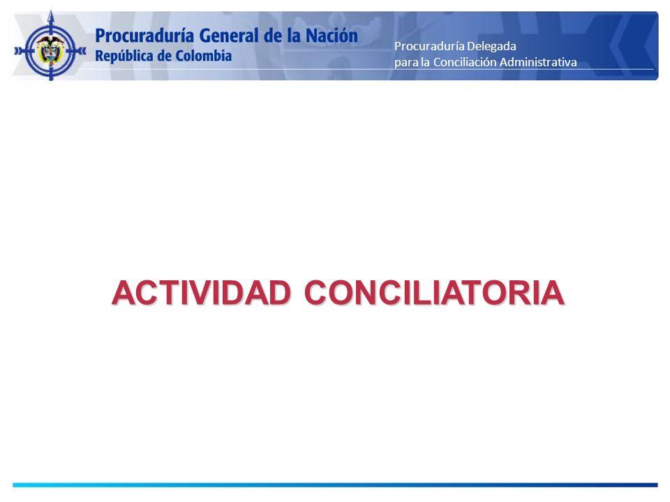 ACTIVIDAD CONCILIATORIA