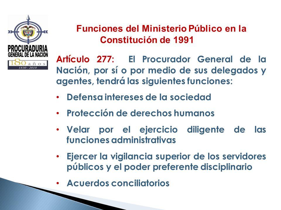 Funciones del Ministerio Público en la Constitución de 1991