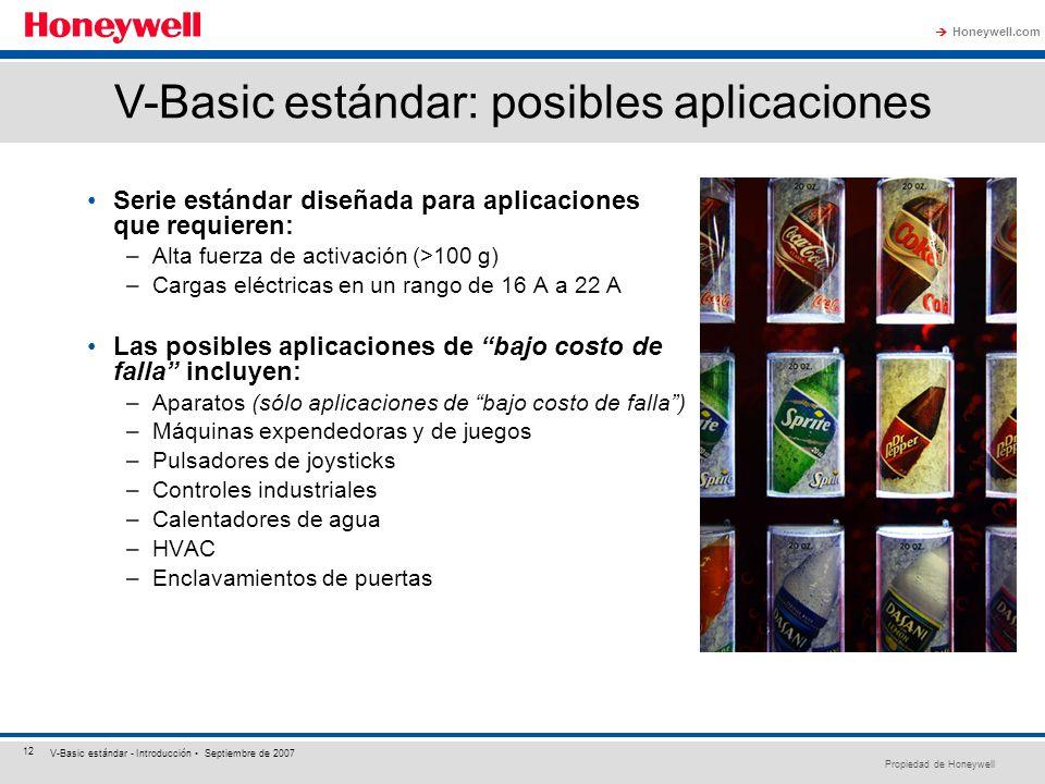 V-Basic estándar: posibles aplicaciones