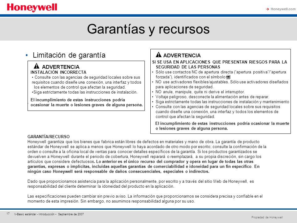 Garantías y recursos Limitación de garantía ADVERTENCIA ADVERTENCIA