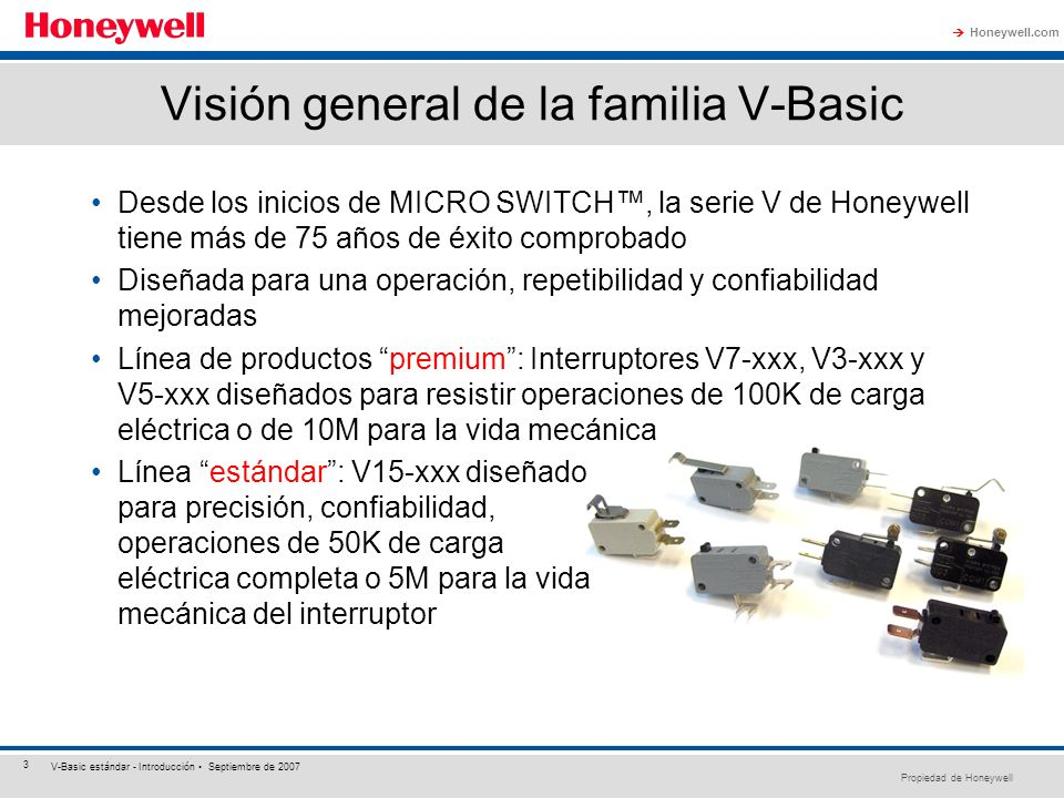 Visión general de la familia V-Basic