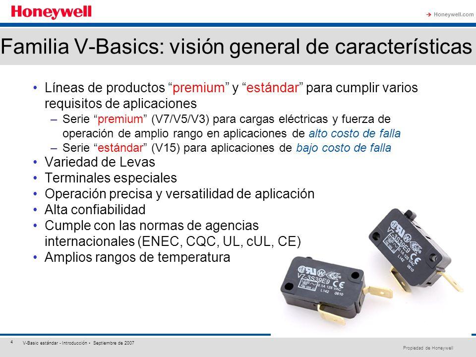 Familia V-Basics: visión general de características