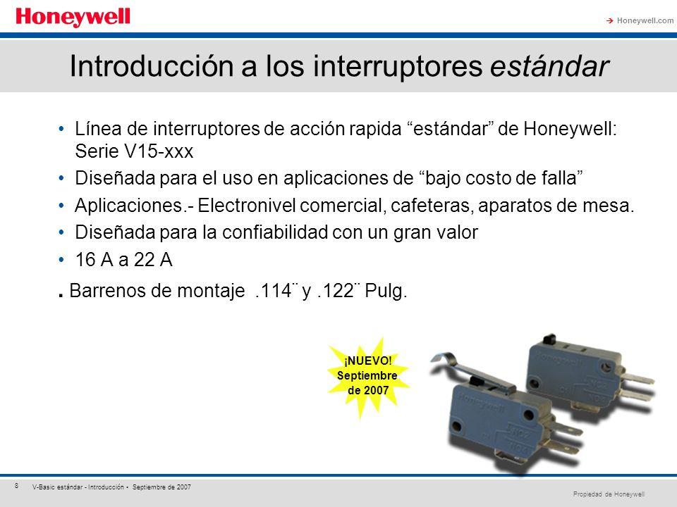 Introducción a los interruptores estándar