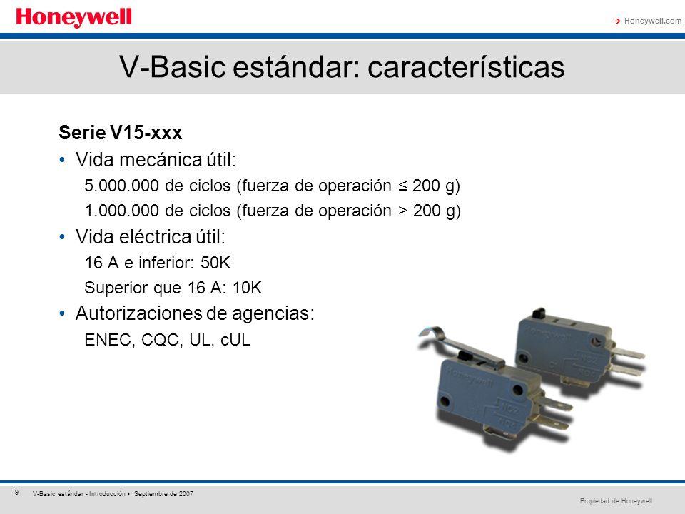 V-Basic estándar: características