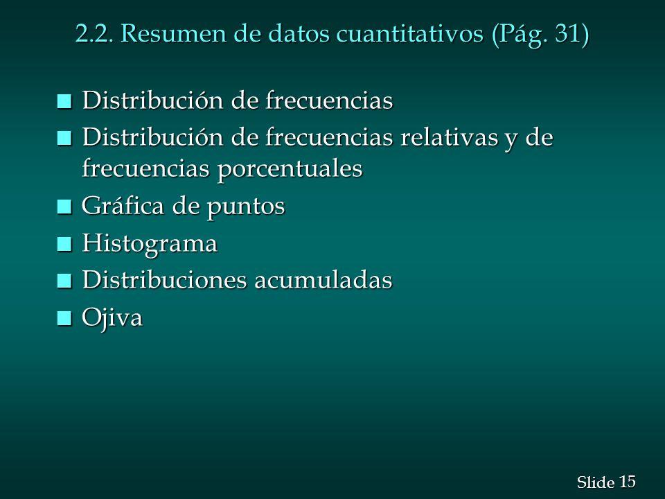 2.2. Resumen de datos cuantitativos (Pág. 31)