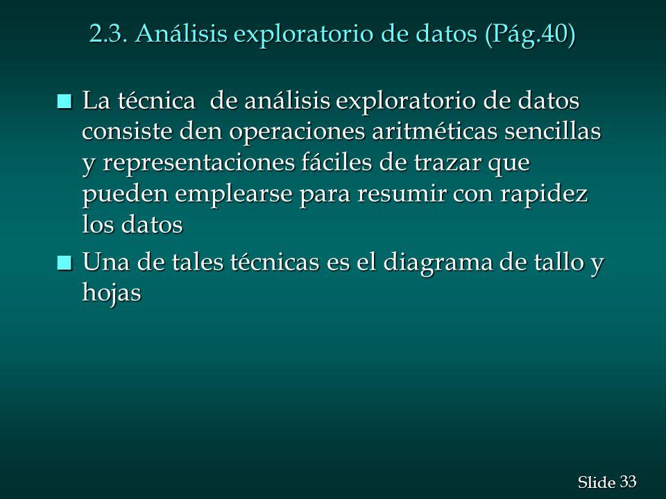 2.3. Análisis exploratorio de datos (Pág.40)
