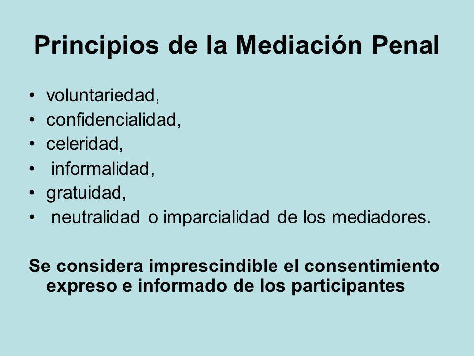 Principios de la Mediación Penal