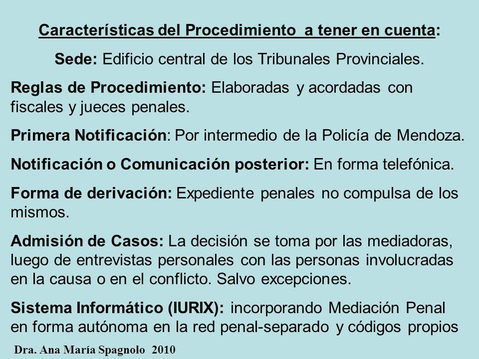 Características del Procedimiento a tener en cuenta: