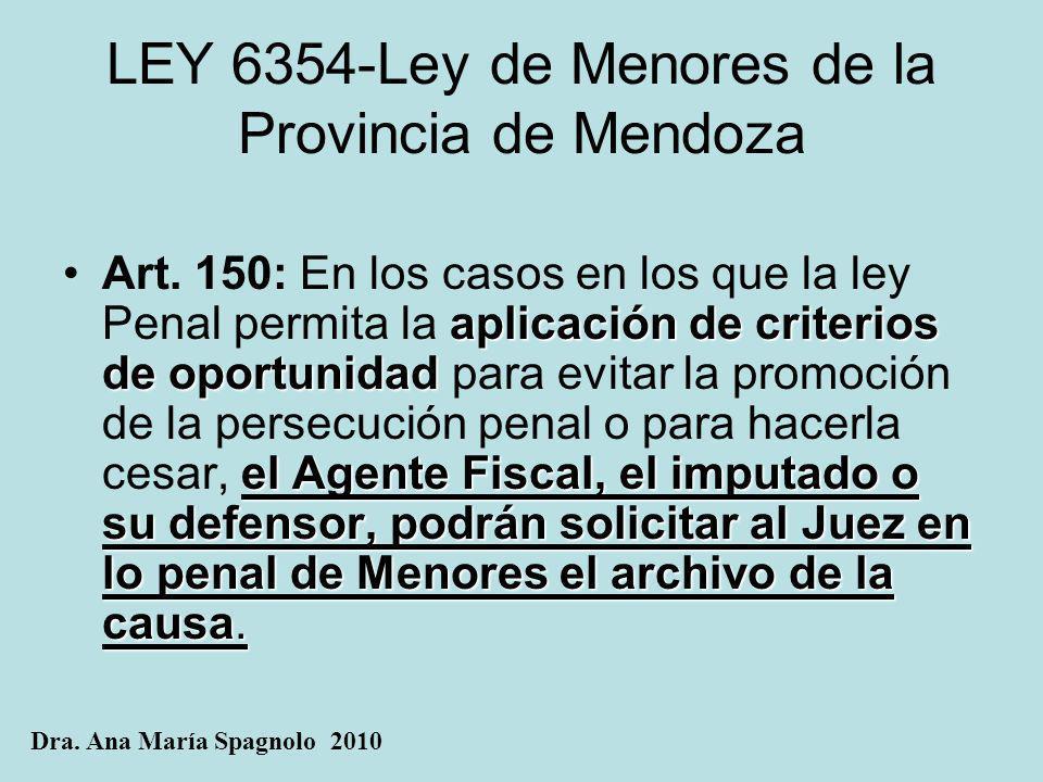 LEY 6354-Ley de Menores de la Provincia de Mendoza
