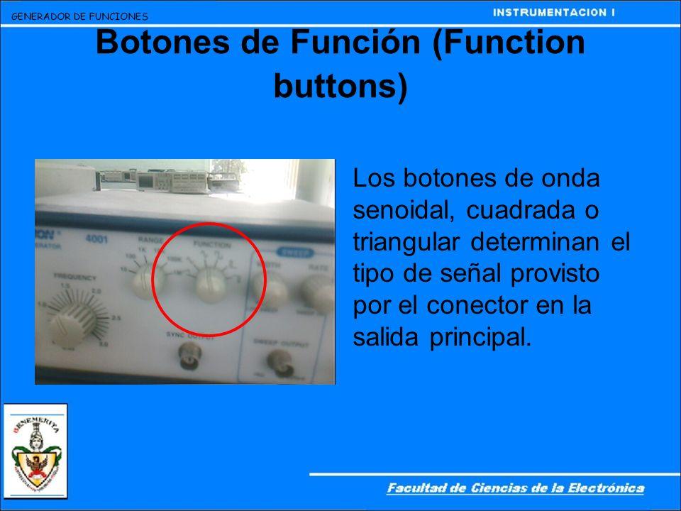 Botones de Función (Function buttons)