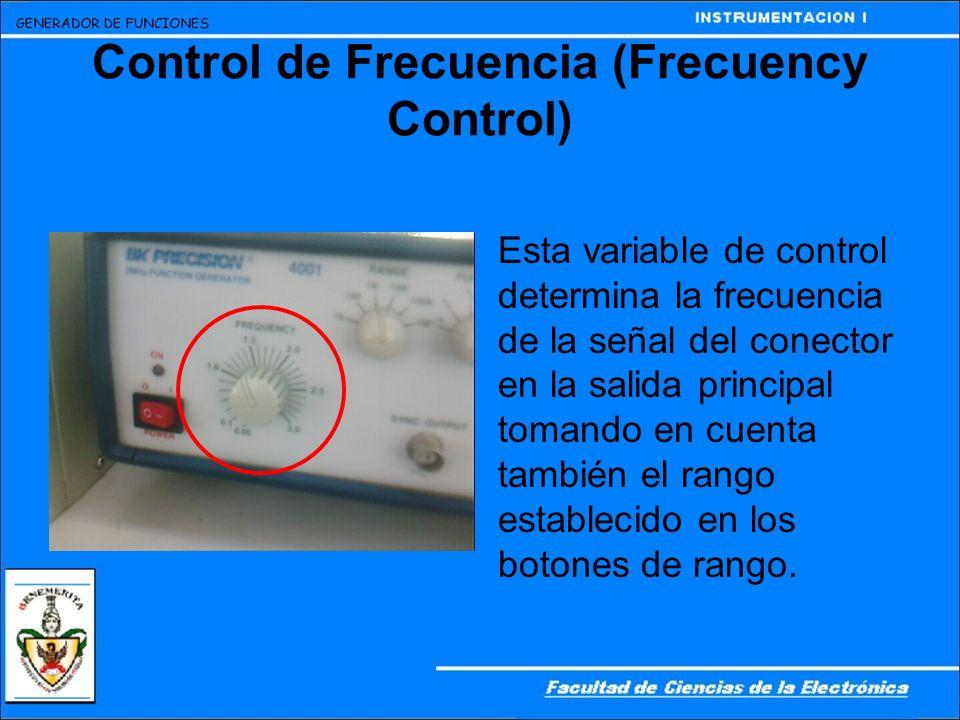 Control de Frecuencia (Frecuency Control)