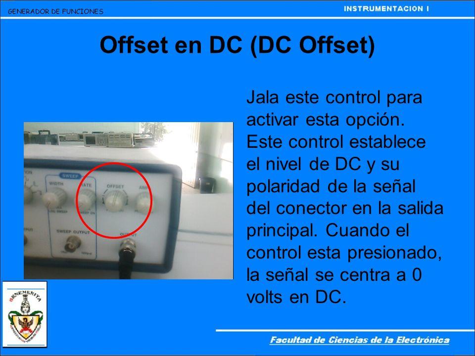 Offset en DC (DC Offset)