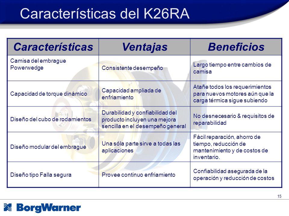 Características del K26RA