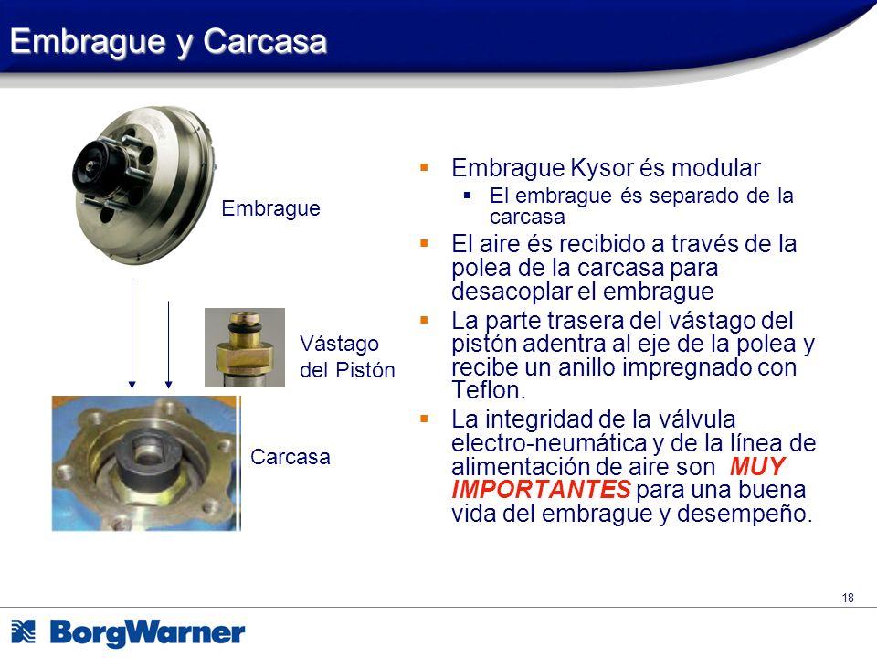 Embrague y Carcasa Embrague Kysor és modular