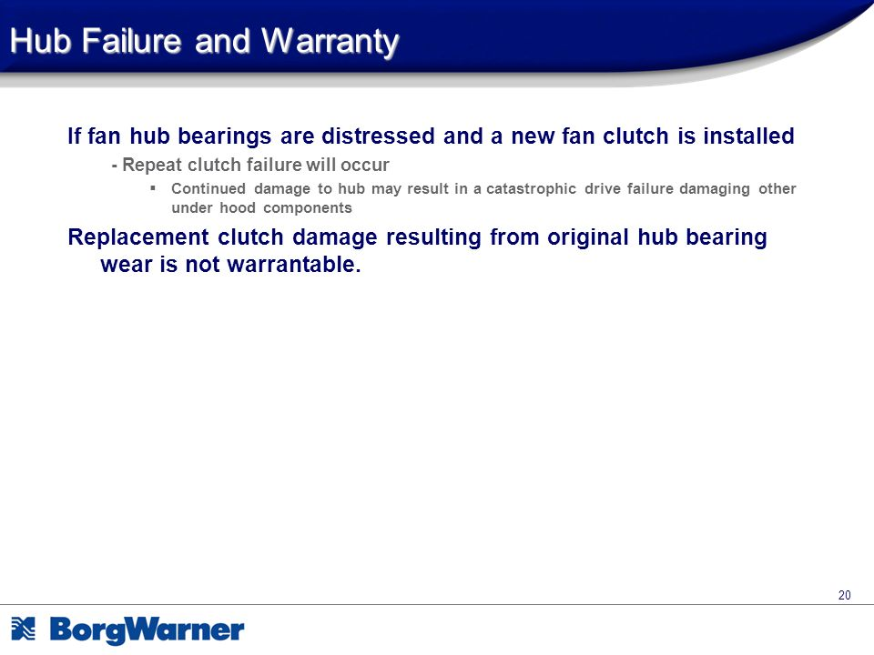 Hub Failure and Warranty