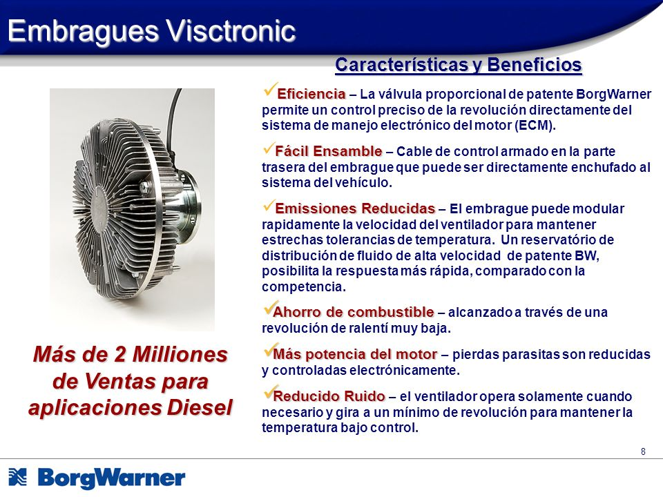 Embragues Visctronic Características y Beneficios.
