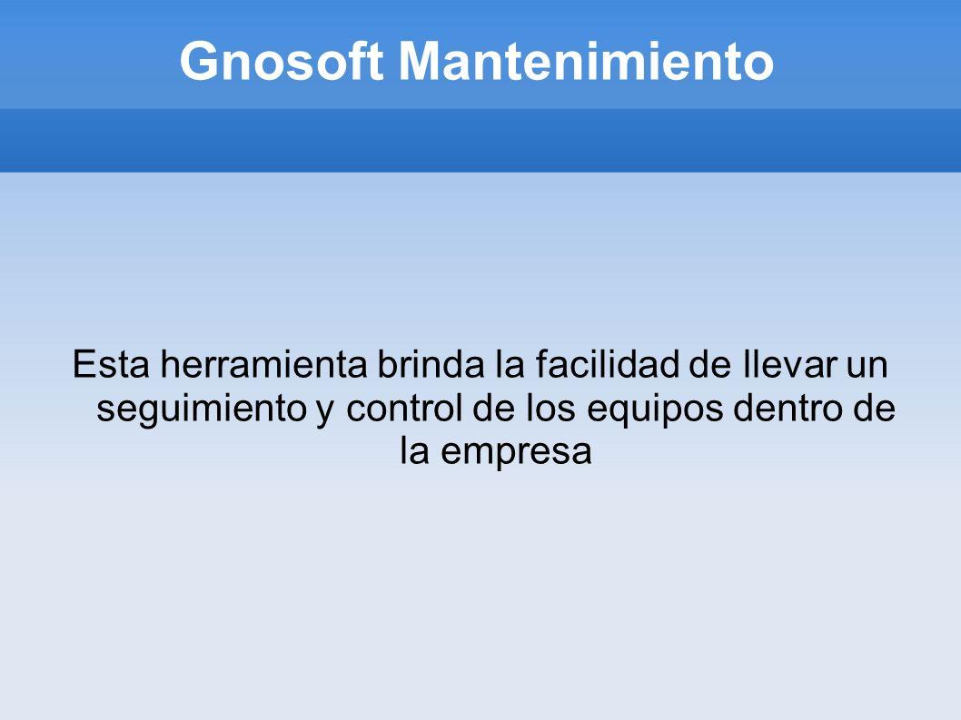 Gnosoft Mantenimiento