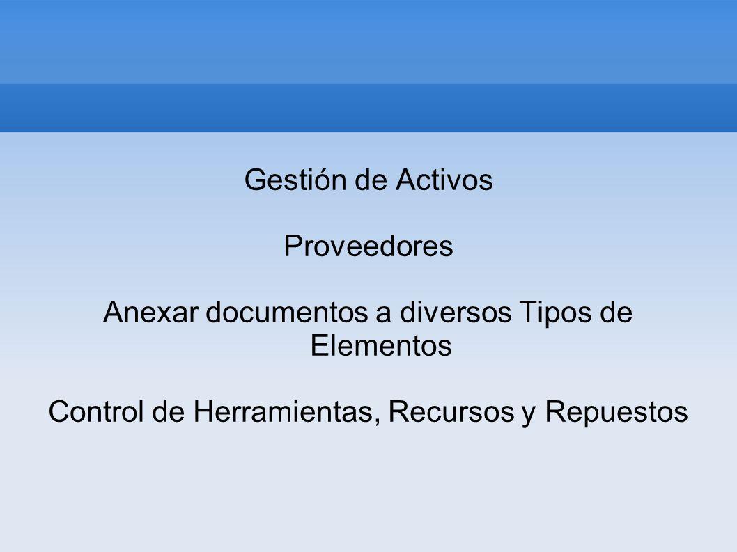 Anexar documentos a diversos Tipos de Elementos