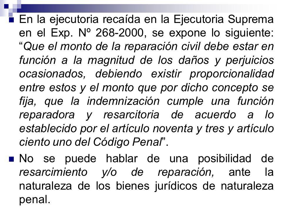 En la ejecutoria recaída en la Ejecutoria Suprema en el Exp