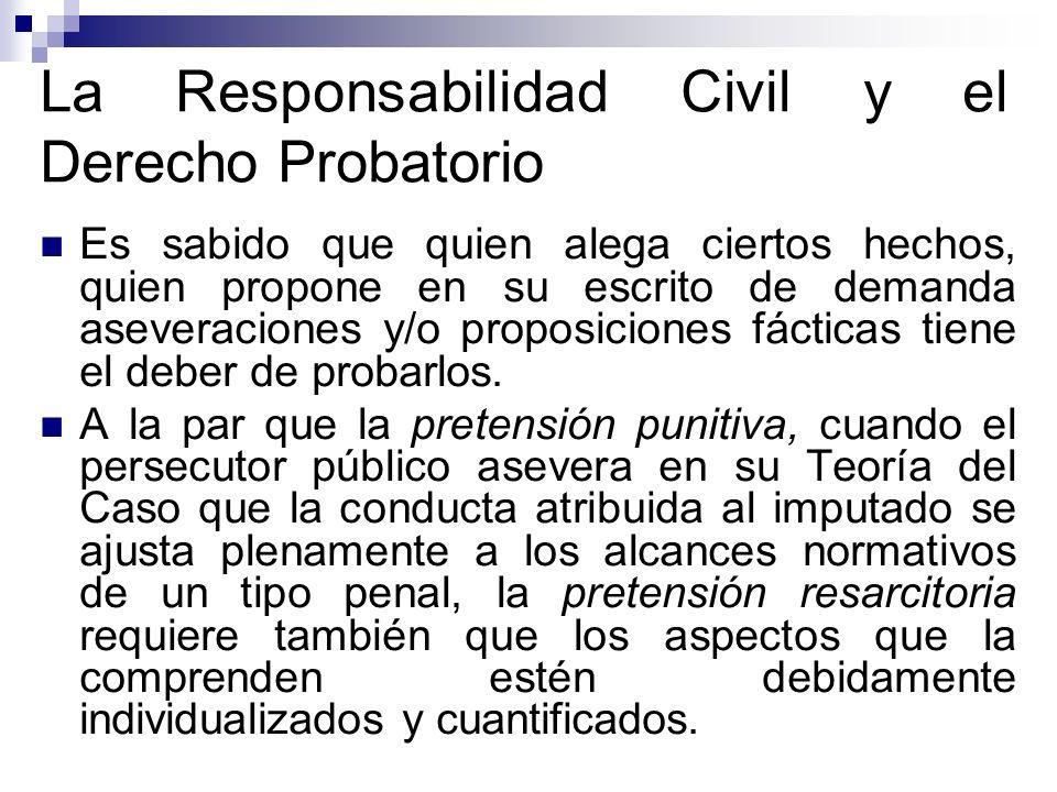 La Responsabilidad Civil y el Derecho Probatorio