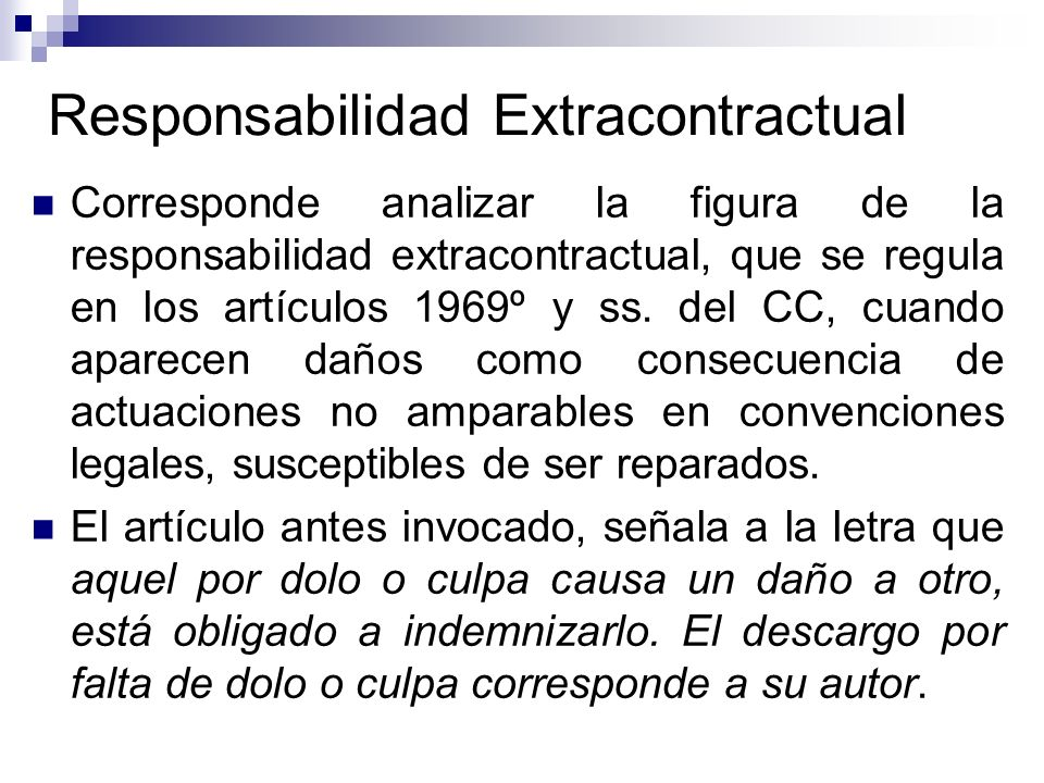 Responsabilidad Extracontractual
