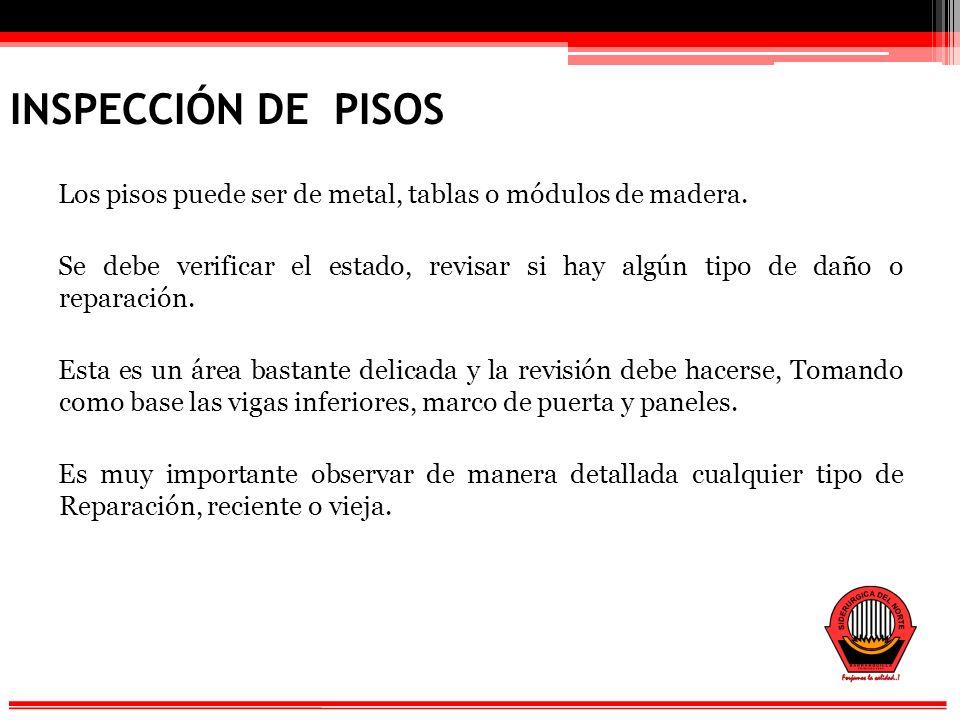INSPECCIÓN DE PISOS