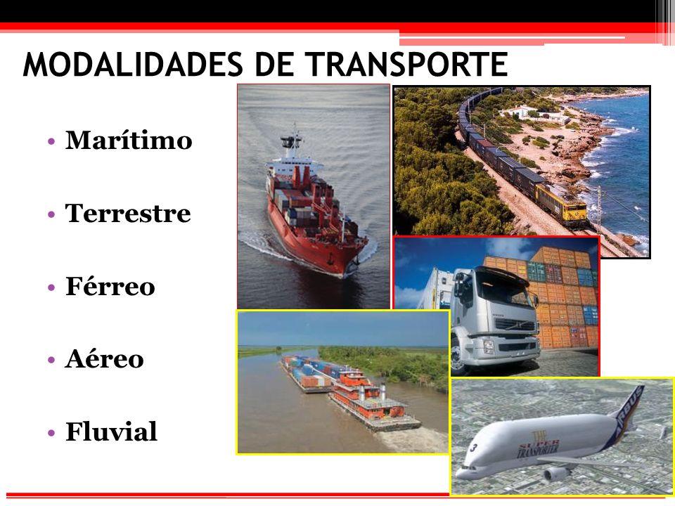 MODALIDADES DE TRANSPORTE