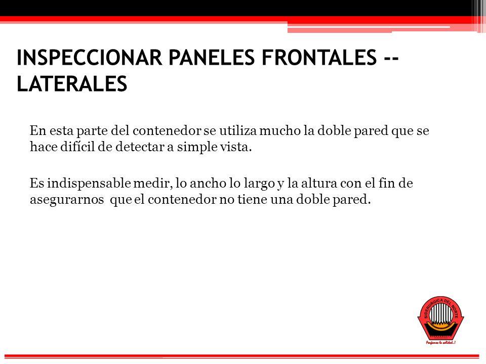 INSPECCIONAR PANELES FRONTALES -- LATERALES