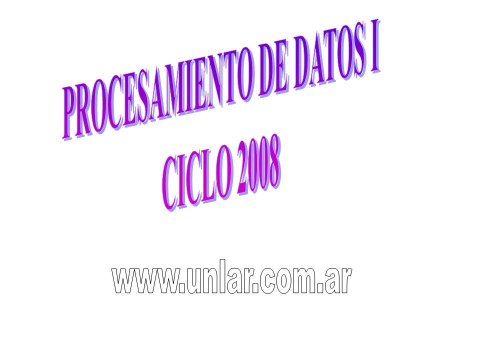 PROCESAMIENTO DE DATOS I