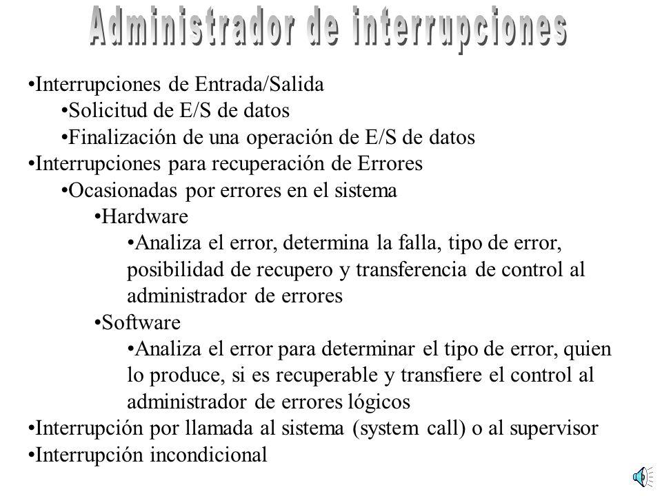 Administrador de interrupciones