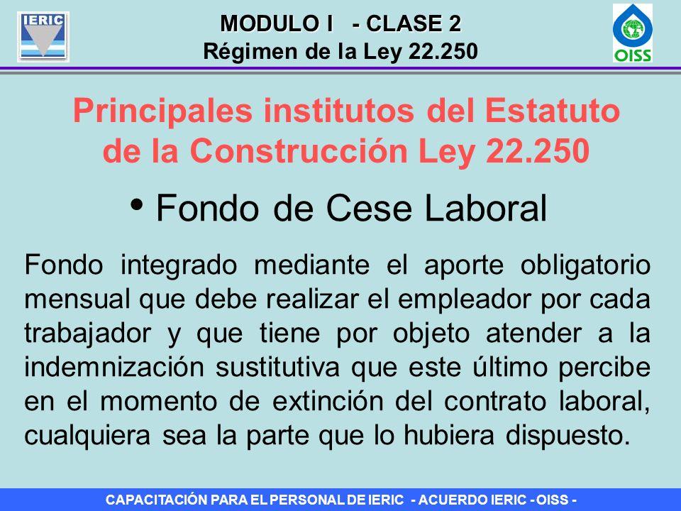 Principales institutos del Estatuto de la Construcción Ley 22.250