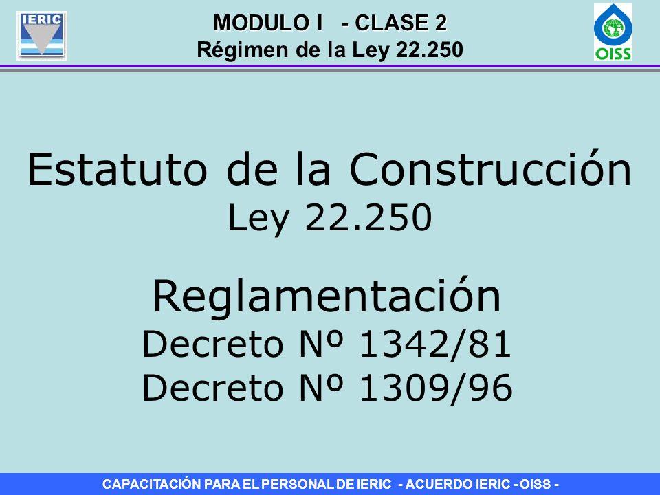 Estatuto de la Construcción Ley 22.250