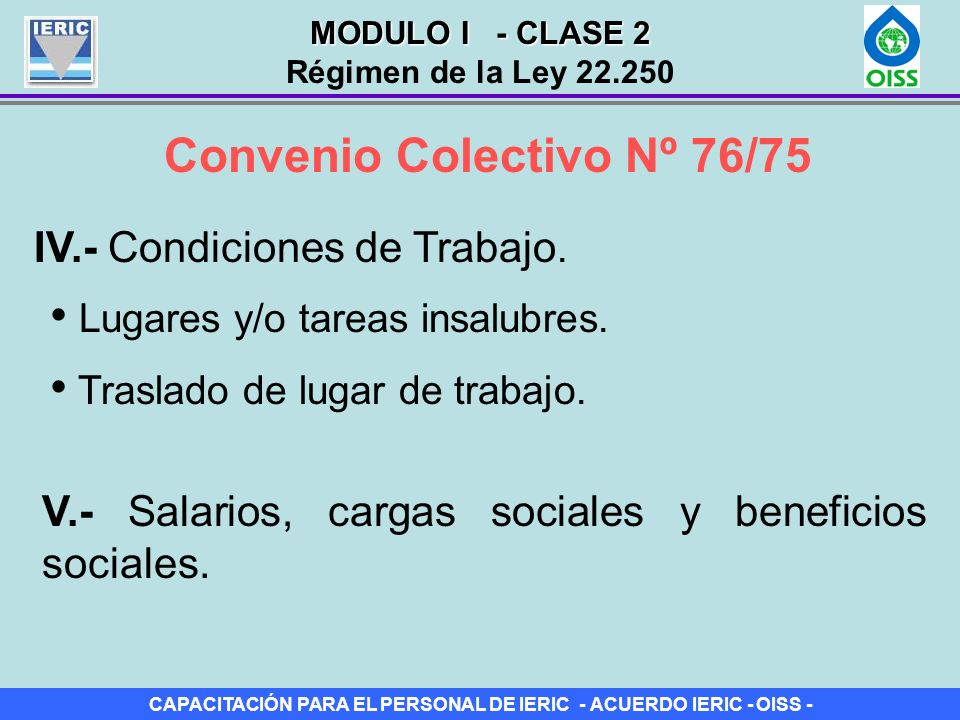 Convenio Colectivo Nº 76/75