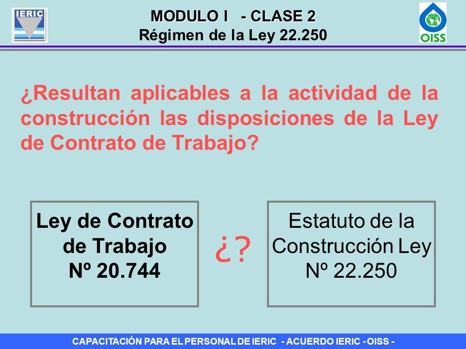 Ley de Contrato de Trabajo Nº 20.744