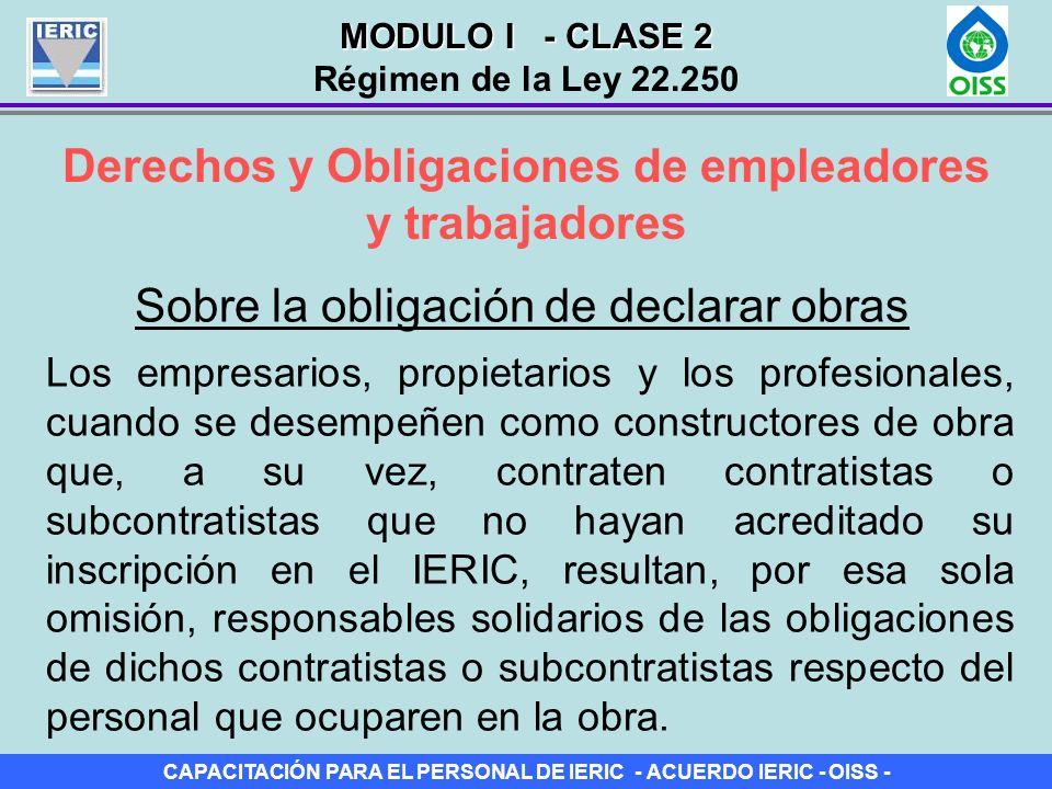 Derechos y Obligaciones de empleadores y trabajadores