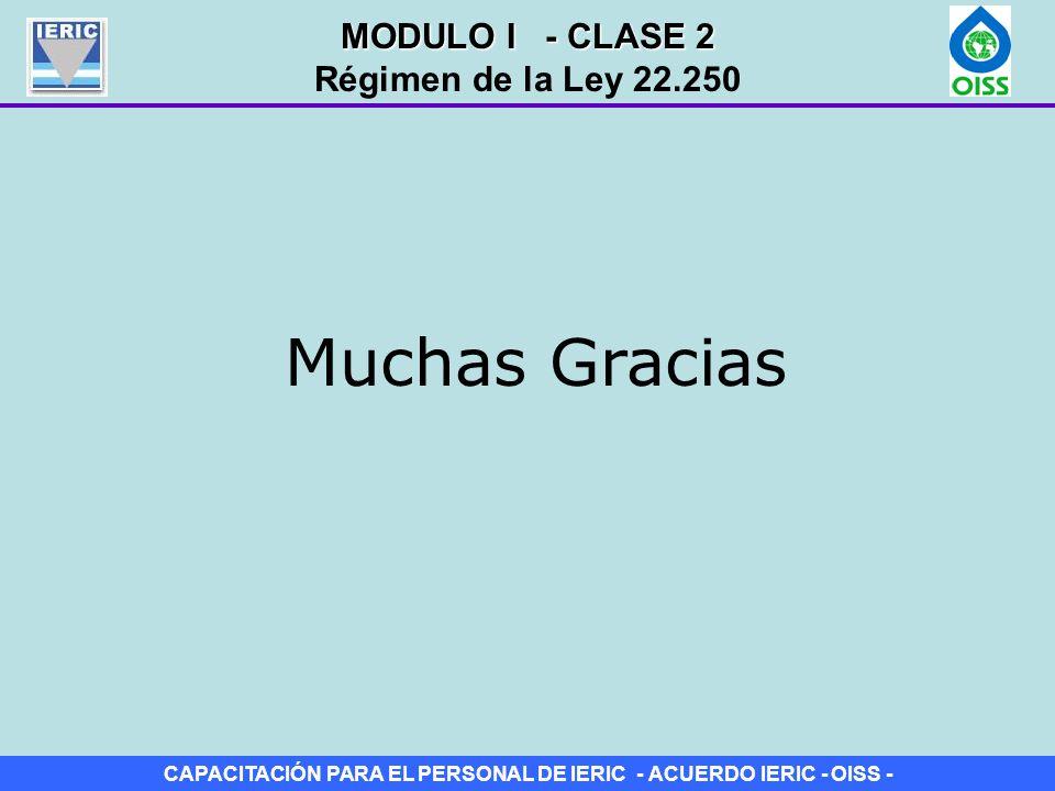 MODULO I - CLASE 2 Régimen de la Ley 22.250 Muchas Gracias
