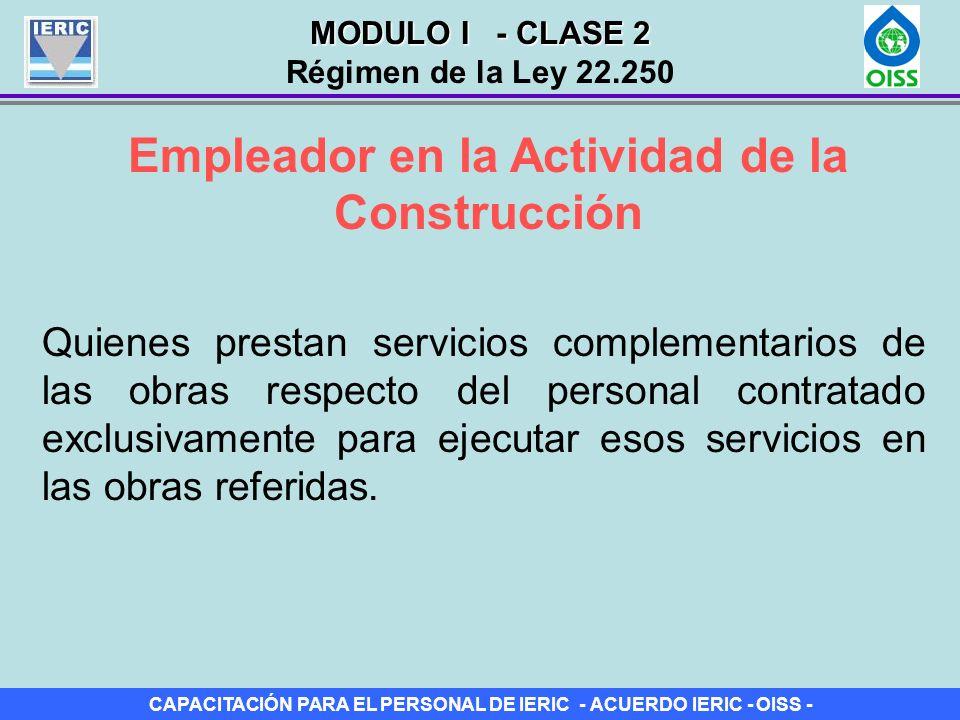 Empleador en la Actividad de la Construcción