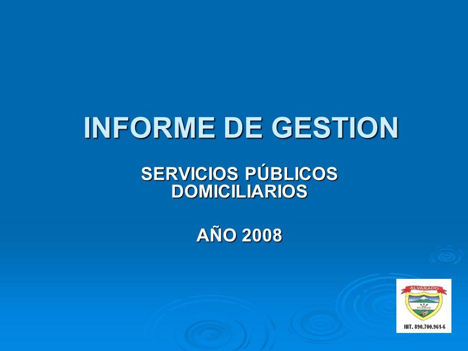 SERVICIOS PÚBLICOS DOMICILIARIOS AÑO 2008