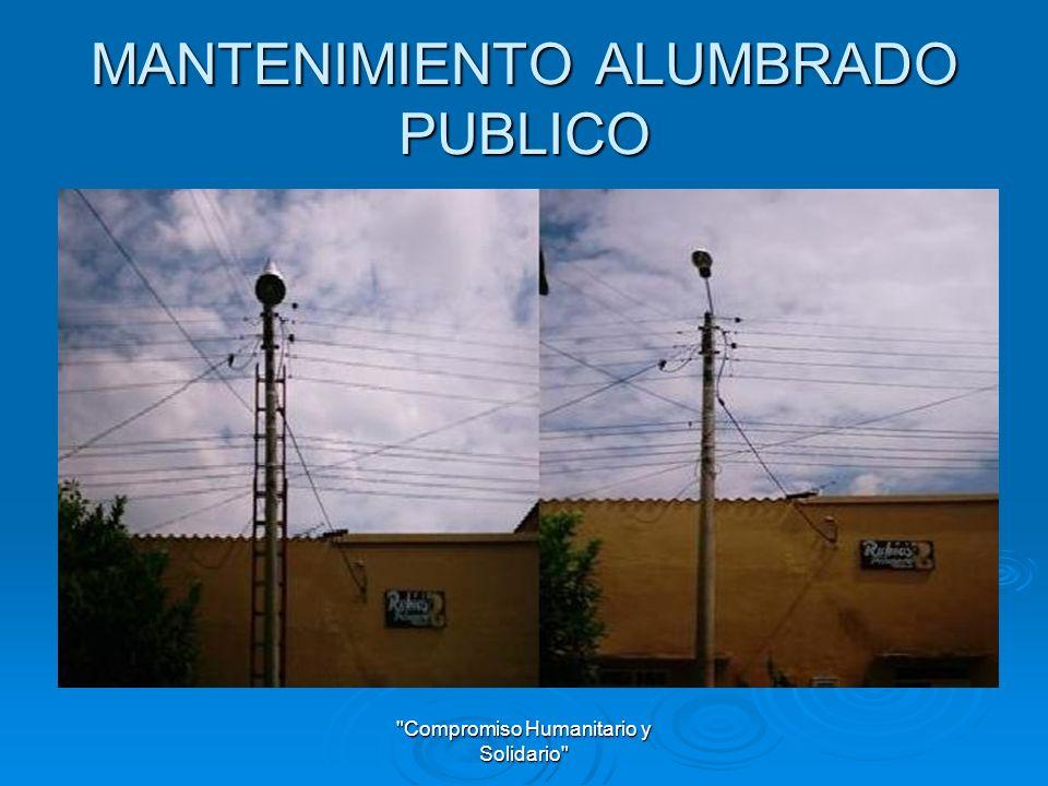 MANTENIMIENTO ALUMBRADO PUBLICO
