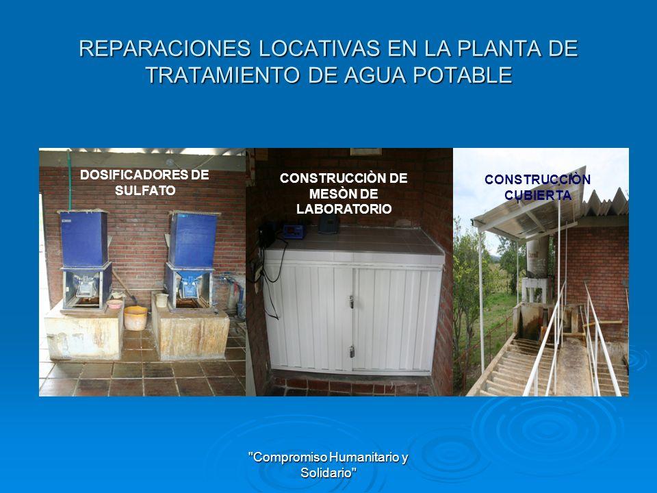 REPARACIONES LOCATIVAS EN LA PLANTA DE TRATAMIENTO DE AGUA POTABLE