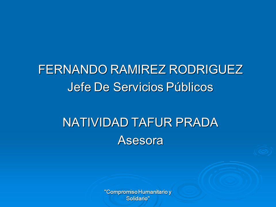 FERNANDO RAMIREZ RODRIGUEZ Jefe De Servicios Públicos