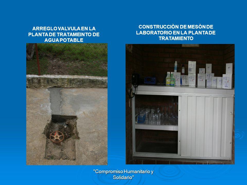 CONSTRUCCIÒN DE MESÒN DE LABORATORIO EN LA PLANTA DE TRATAMIENTO