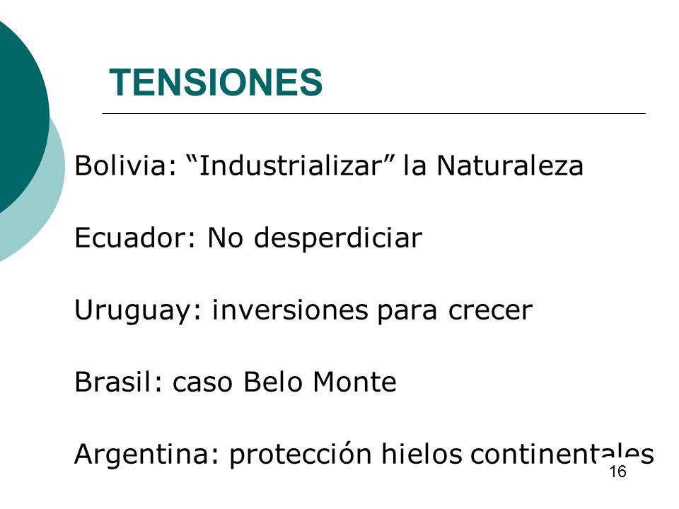 TENSIONES Bolivia: Industrializar la Naturaleza