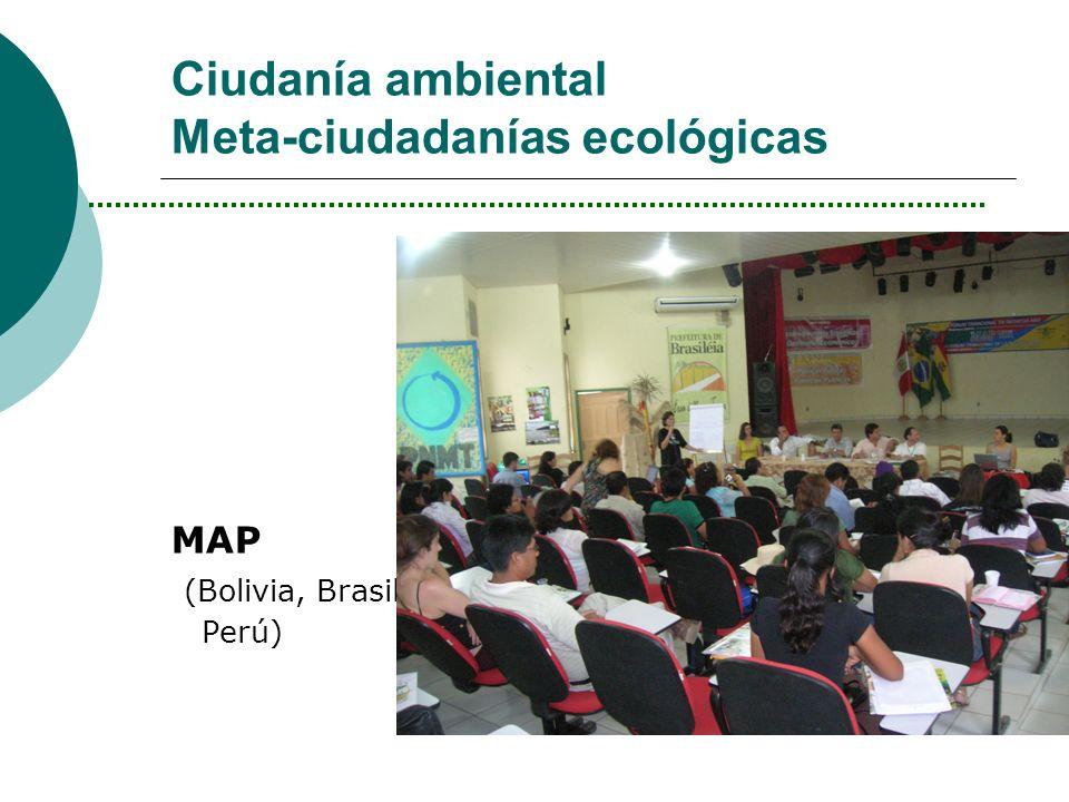 Ciudanía ambiental Meta-ciudadanías ecológicas