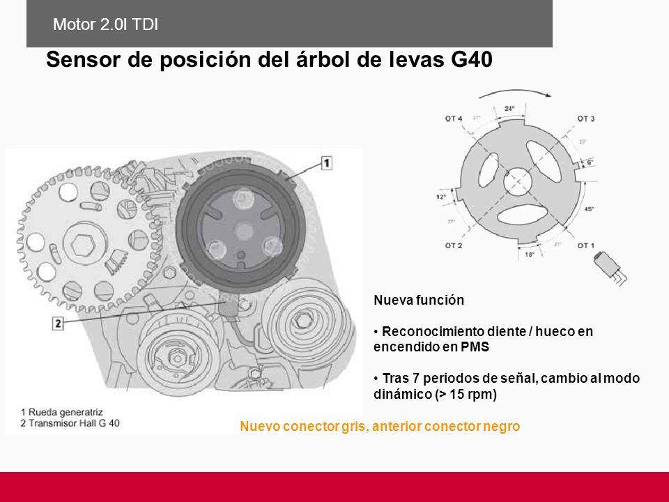 Sensor de posición del árbol de levas G40