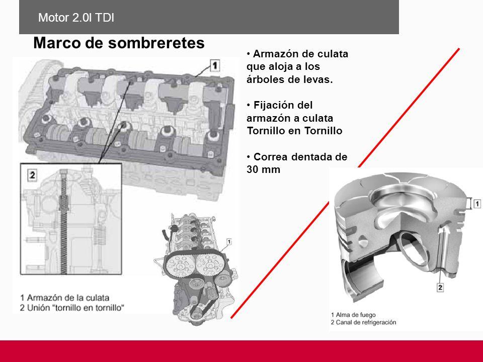 Marco de sombreretes Motor 2.0l TDI