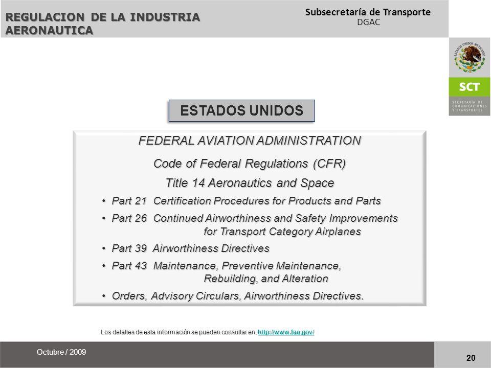 ESTADOS UNIDOS FEDERAL AVIATION ADMINISTRATION
