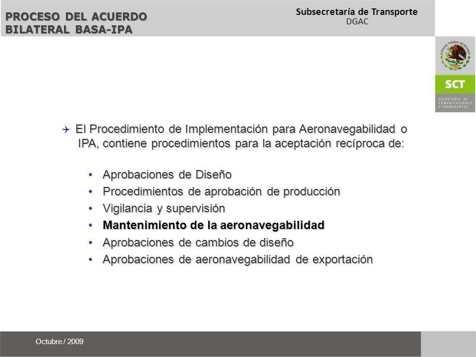 Aprobaciones de Diseño Procedimientos de aprobación de producción