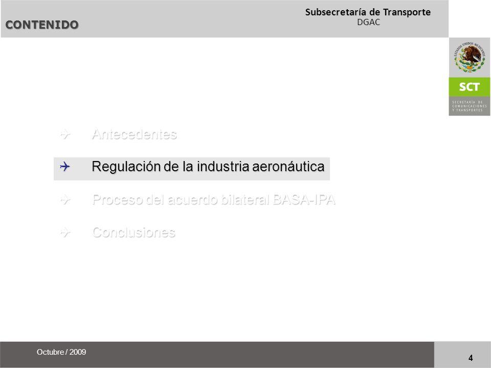 Regulación de la industria aeronáutica